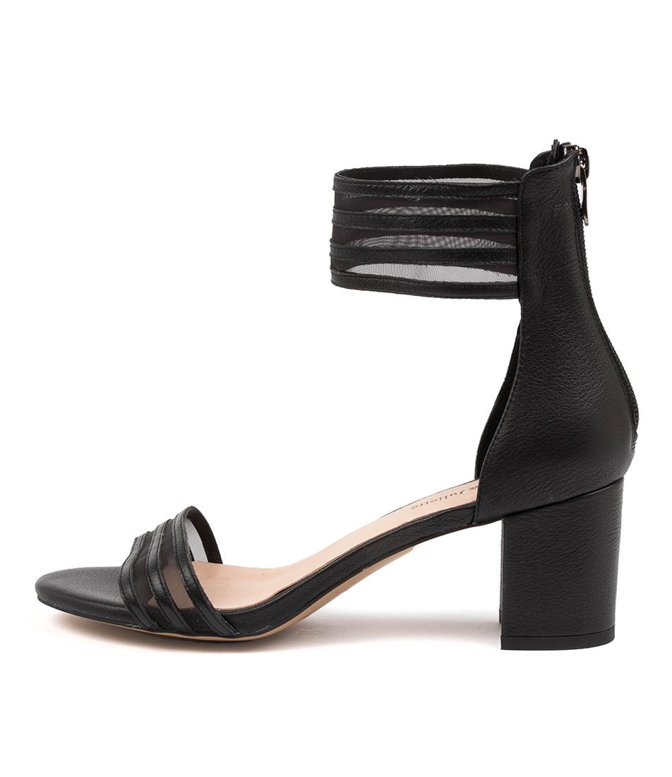 Buy Django & Juliette Elvis Dj Black Heeled Sandals online with free shipping