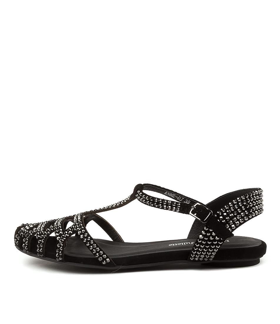 Buy Django & Juliette Emme Dj Black Flat Sandals online with free shipping