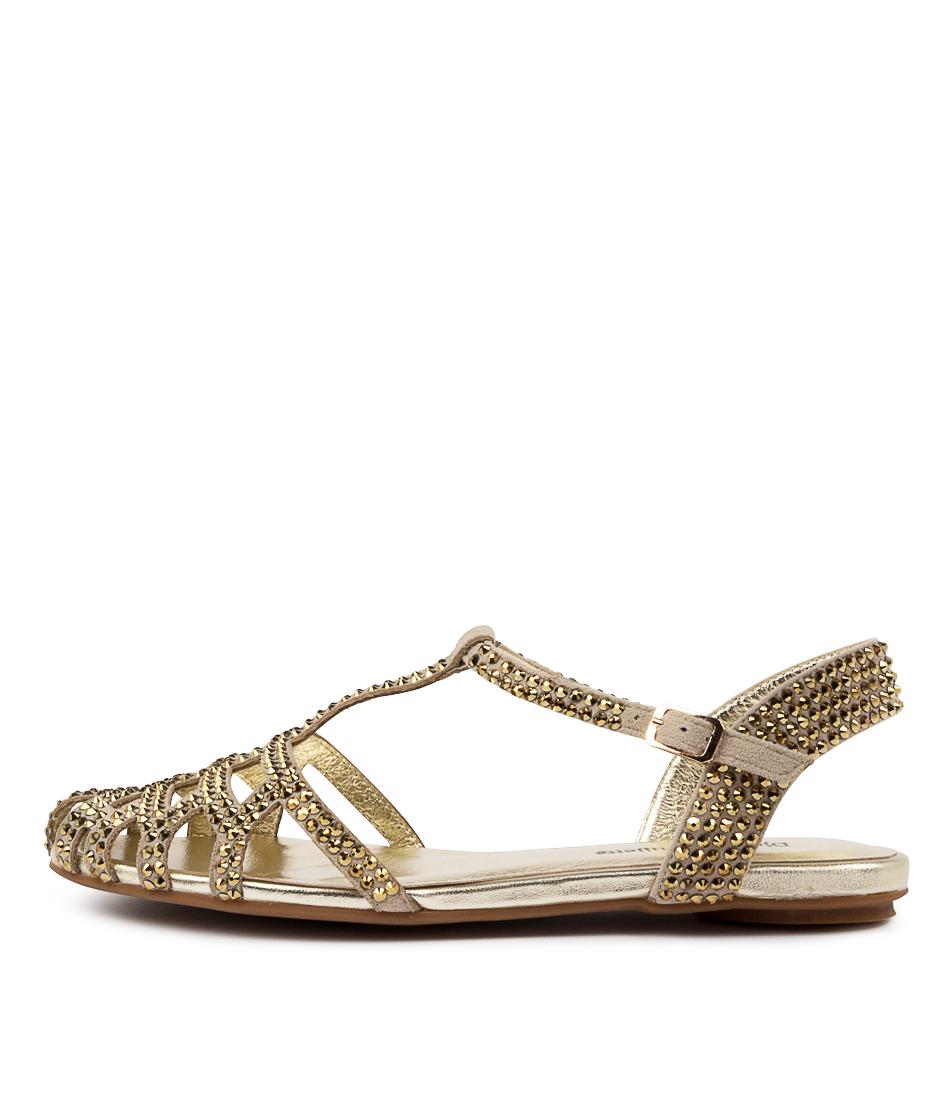 Buy Django & Juliette Emme Dj Gold Flat Sandals online with free shipping