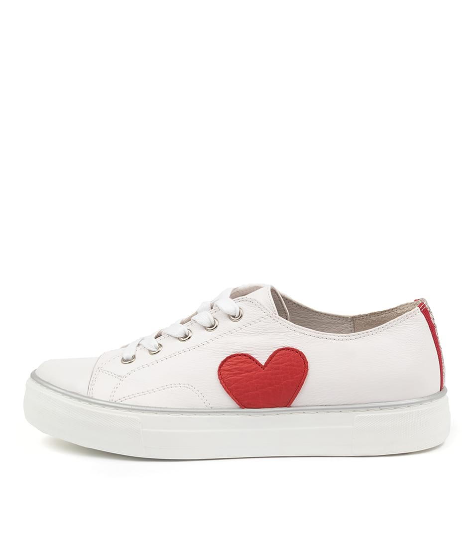 Buy Django & Juliette Fallan Dj White Red Sneakers online with free shipping