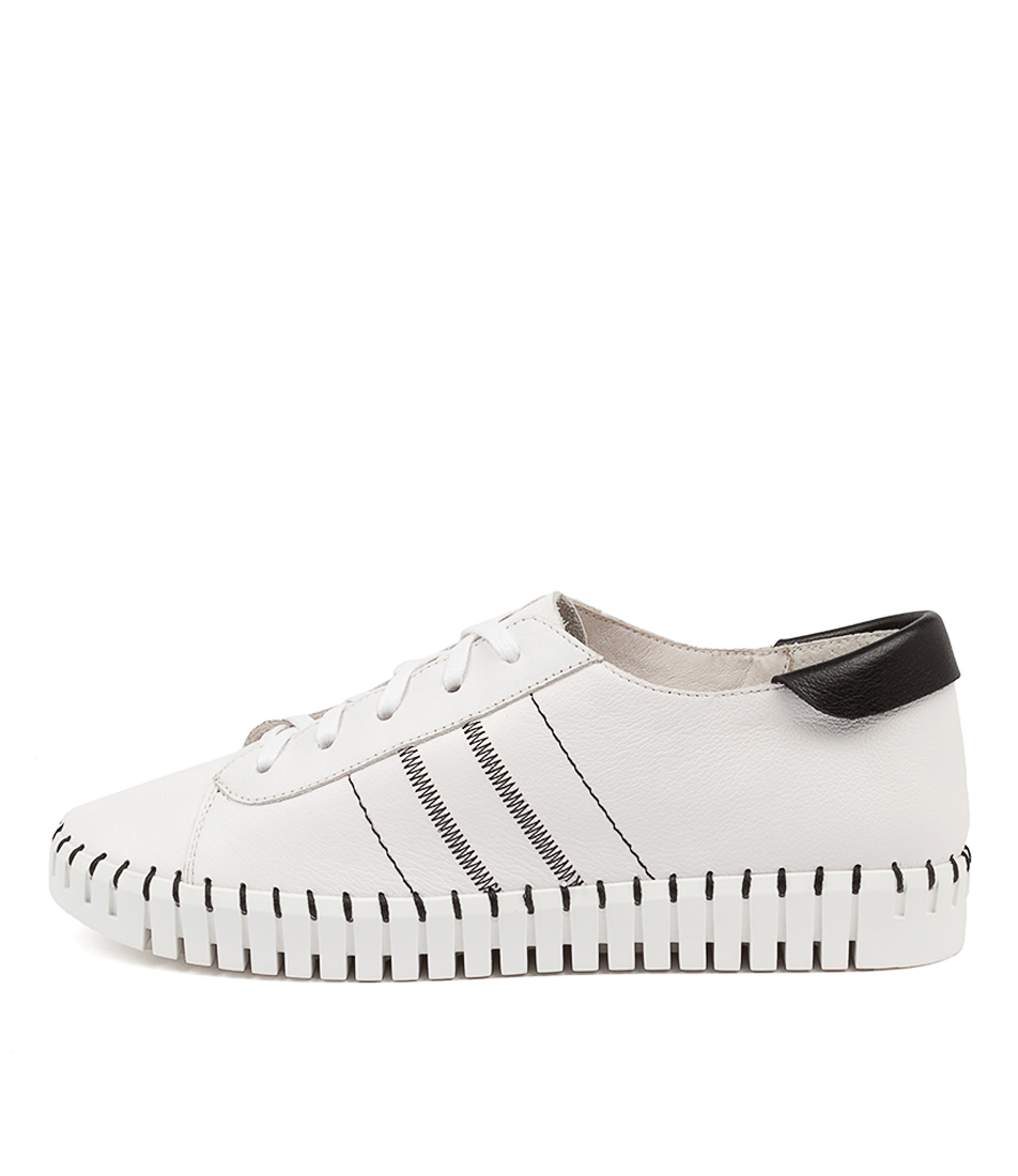 Buy Django & Juliette Hamda Dj White Black Sneakers online with free shipping