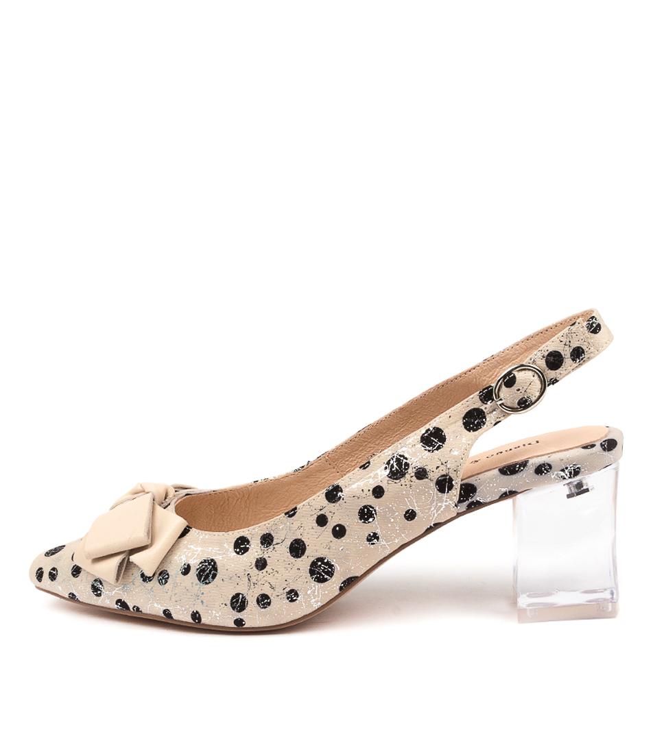 Buy Django & Juliette Hera Dj Cream Spot Cream High Heels online with free shipping