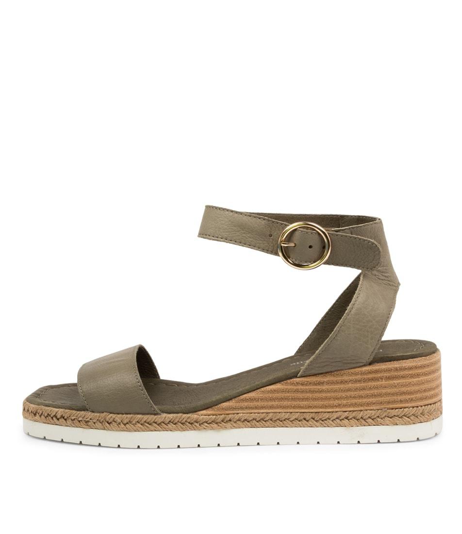 Buy Django & Juliette Irish Dj Olive Heeled Sandals online with free shipping