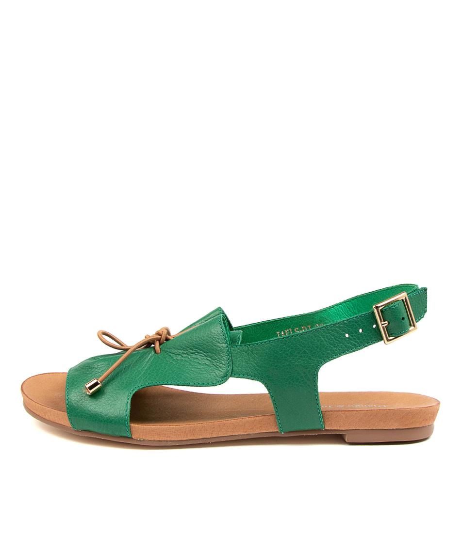 Buy Django & Juliette Jaels Dj Emerald Tan Flat Sandals online with free shipping