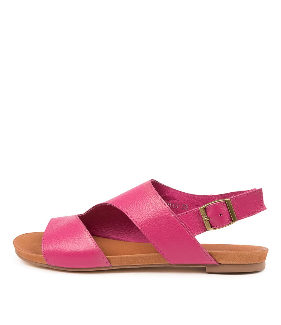 Buy Django & Juliette Julio Dj Fuchsia Flat Sandals online with free shipping