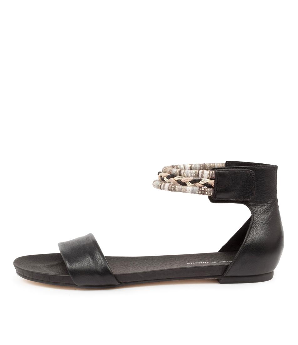 Buy Django & Juliette Justin Dj Black Flat Sandals online with free shipping