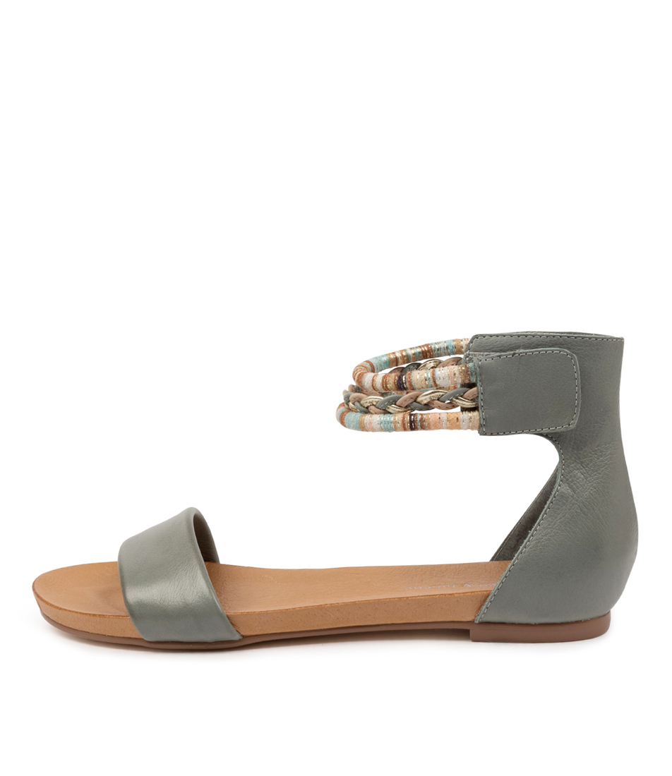 Buy Django & Juliette Justin Dj Steel Flat Sandals online with free shipping