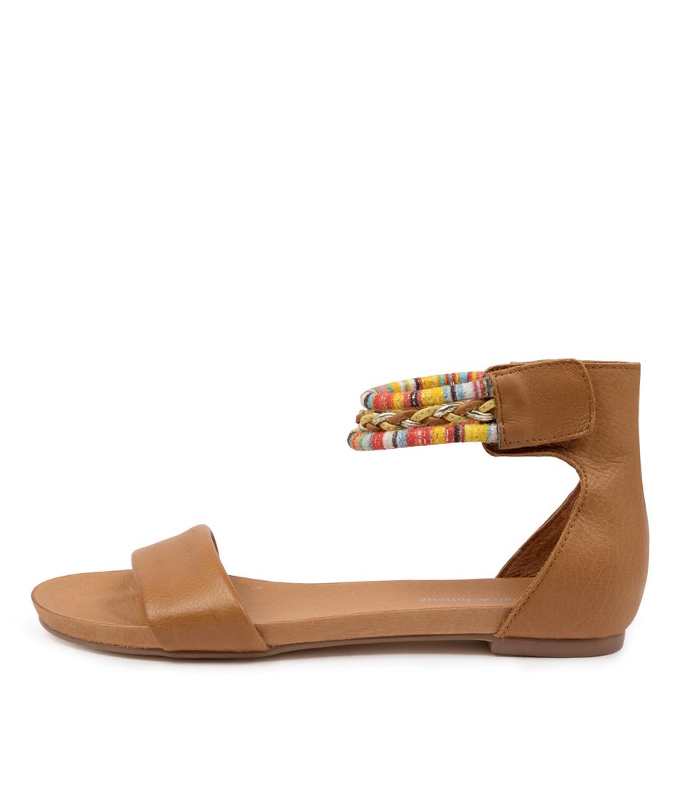 Buy Django & Juliette Justin Dj Dk Tan Flat Sandals online with free shipping