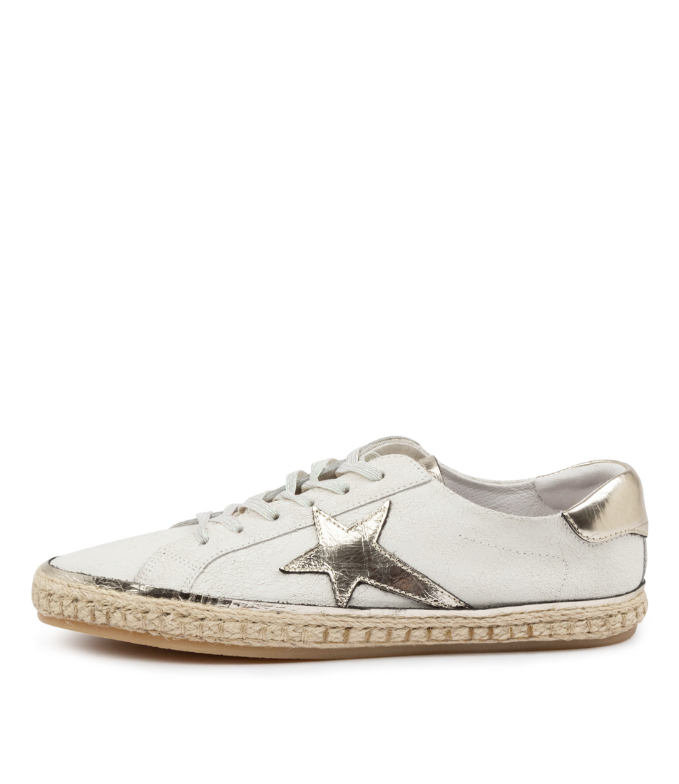 Buy Django & Juliette Kaller Dj White Gold Shine Flats online with free shipping
