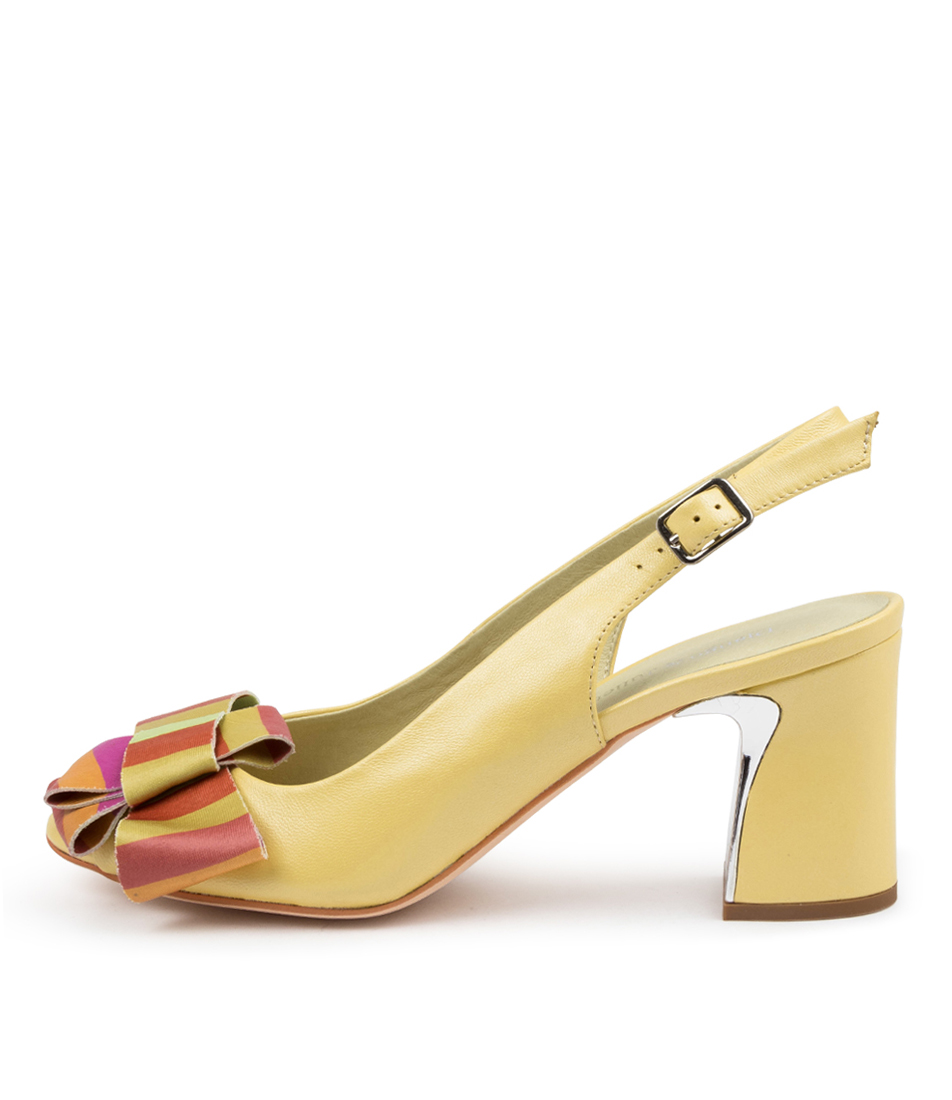 Buy Django & Juliette Kelly Dj Yellow Bright Heeled Sandals online with free shipping