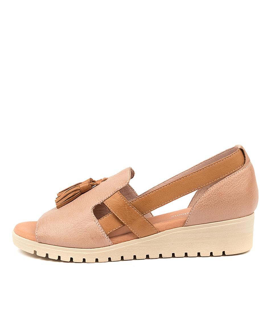 Buy Django & Juliette Maisy Dj Cafe Dk Tan Nude Sole Flat Sandals online with free shipping