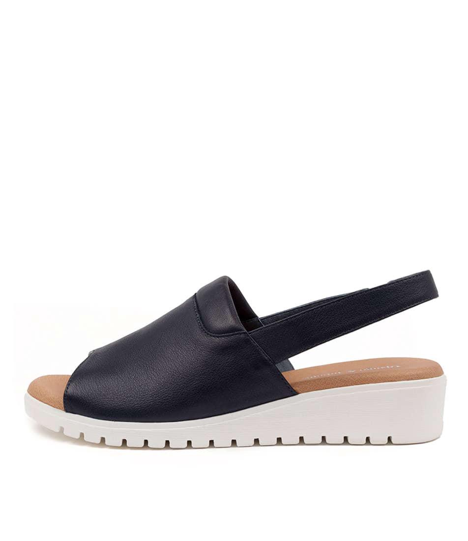 Buy Django & Juliette Maria Dj Navy White Sole Flat Sandals online with free shipping