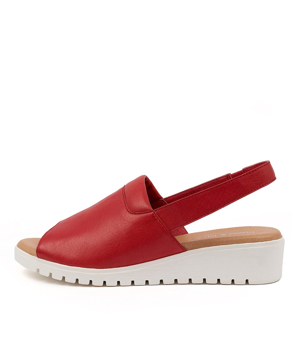 Buy Django & Juliette Maria Dj Red White Sole Flat Sandals online with free shipping