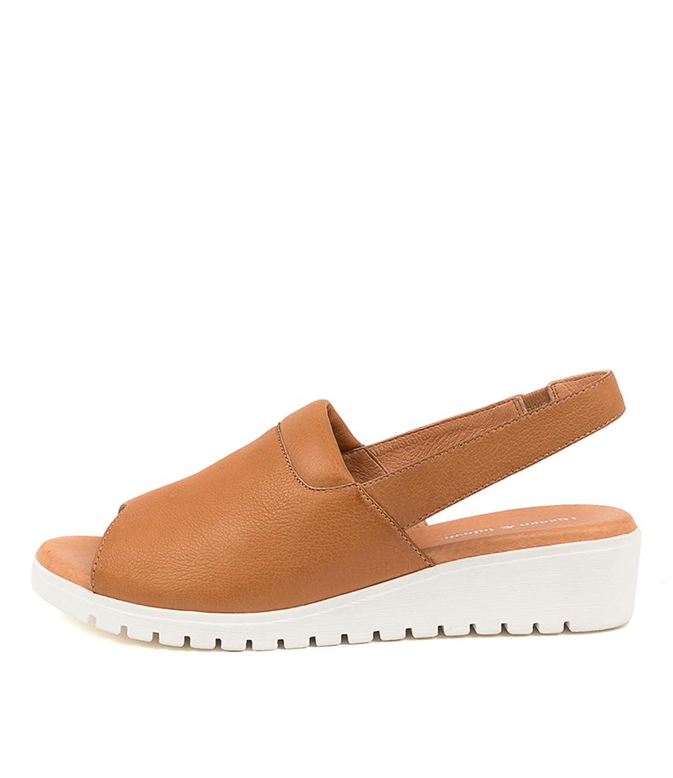 Buy Django & Juliette Maria Dj Dk Tan White So Flat Sandals online with free shipping