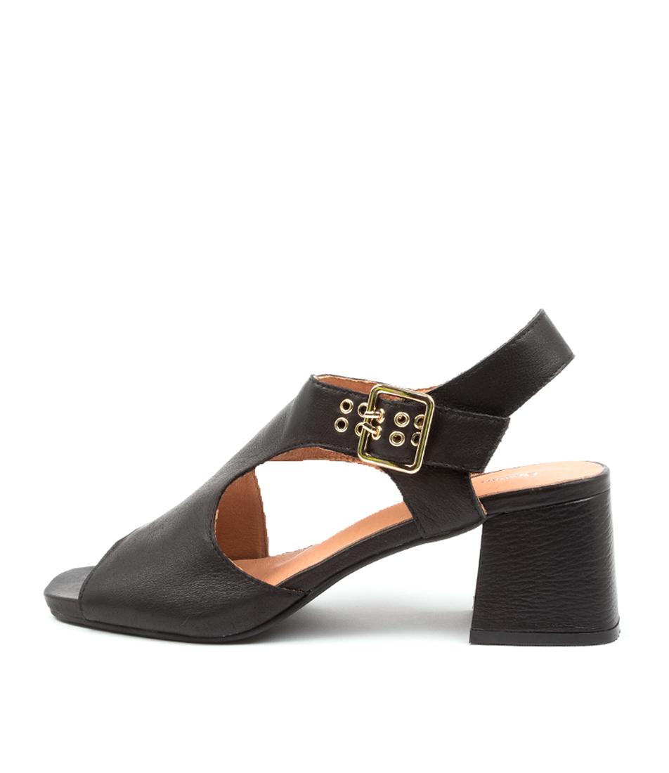 Buy Django & Juliette Maxenes Dj Black Heeled Sandals online with free shipping