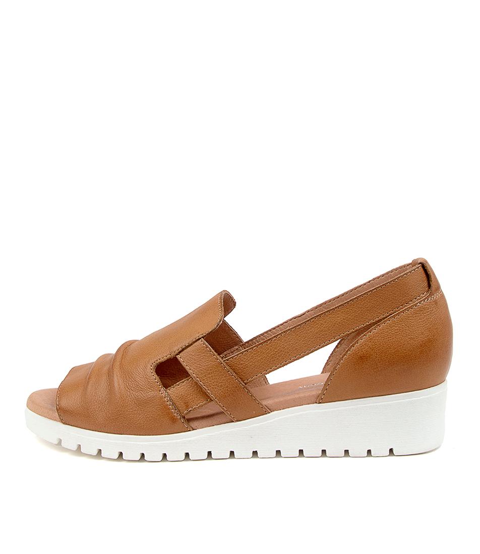 Buy Django & Juliette Mayar Dj Dk Tan White Sole Flat Sandals online with free shipping