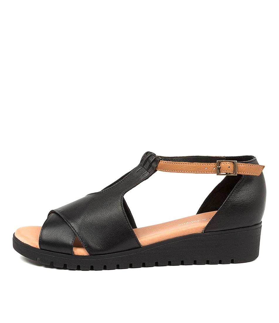 Buy Django & Juliette Mikeys Dj Black Dk Tan Black Sole Flat Sandals online with free shipping