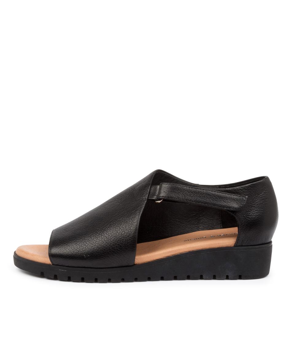 Buy Django & Juliette Minta Dj Black Sole Flat Sandals online with free shipping