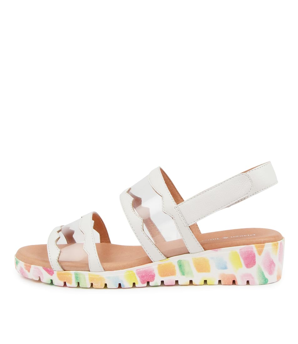 Buy Django & Juliette Mixing Dj White Paint Sole Flat Sandals online with free shipping