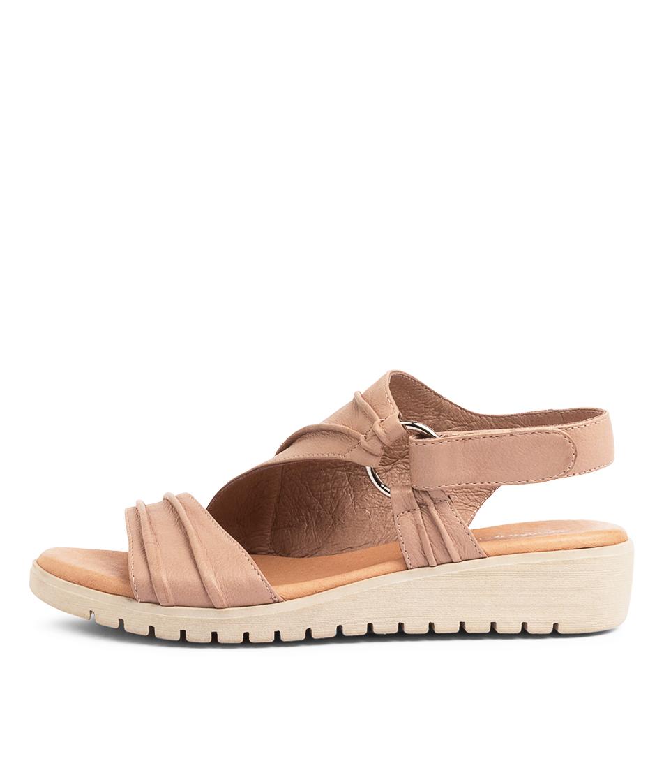 Buy Django & Juliette Mollie Dj Cafe Nude Sole Flat Sandals online with free shipping