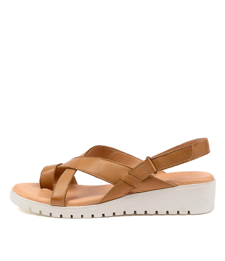 Buy Django & Juliette Mylah Dj Dk Tan White So Flat Sandals online with free shipping