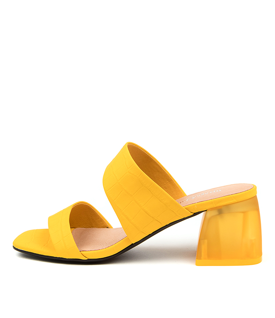 Buy Django & Juliette Nyra Dj Dk Yellow Tan Heeled Sandals online with free shipping