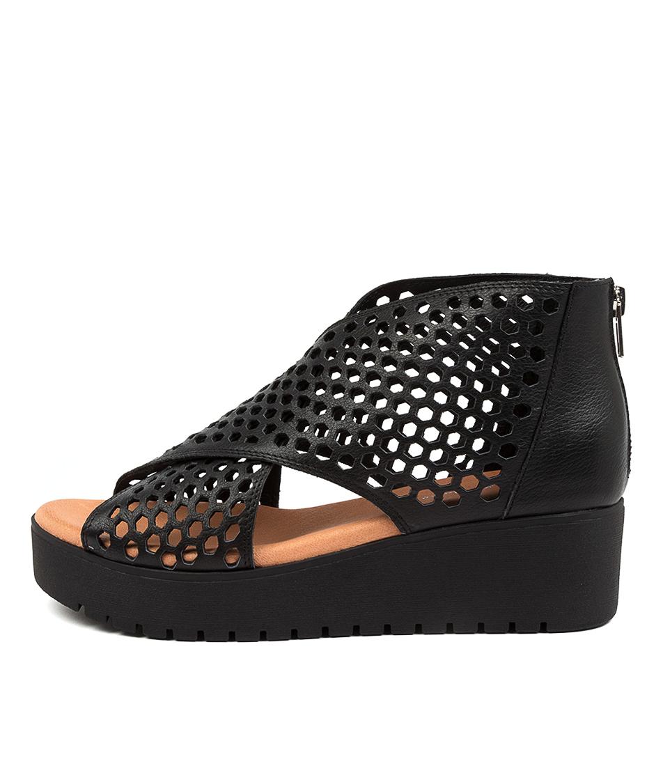 Buy Django & Juliette Orma Dj Black Tan Flat Sandals online with free shipping