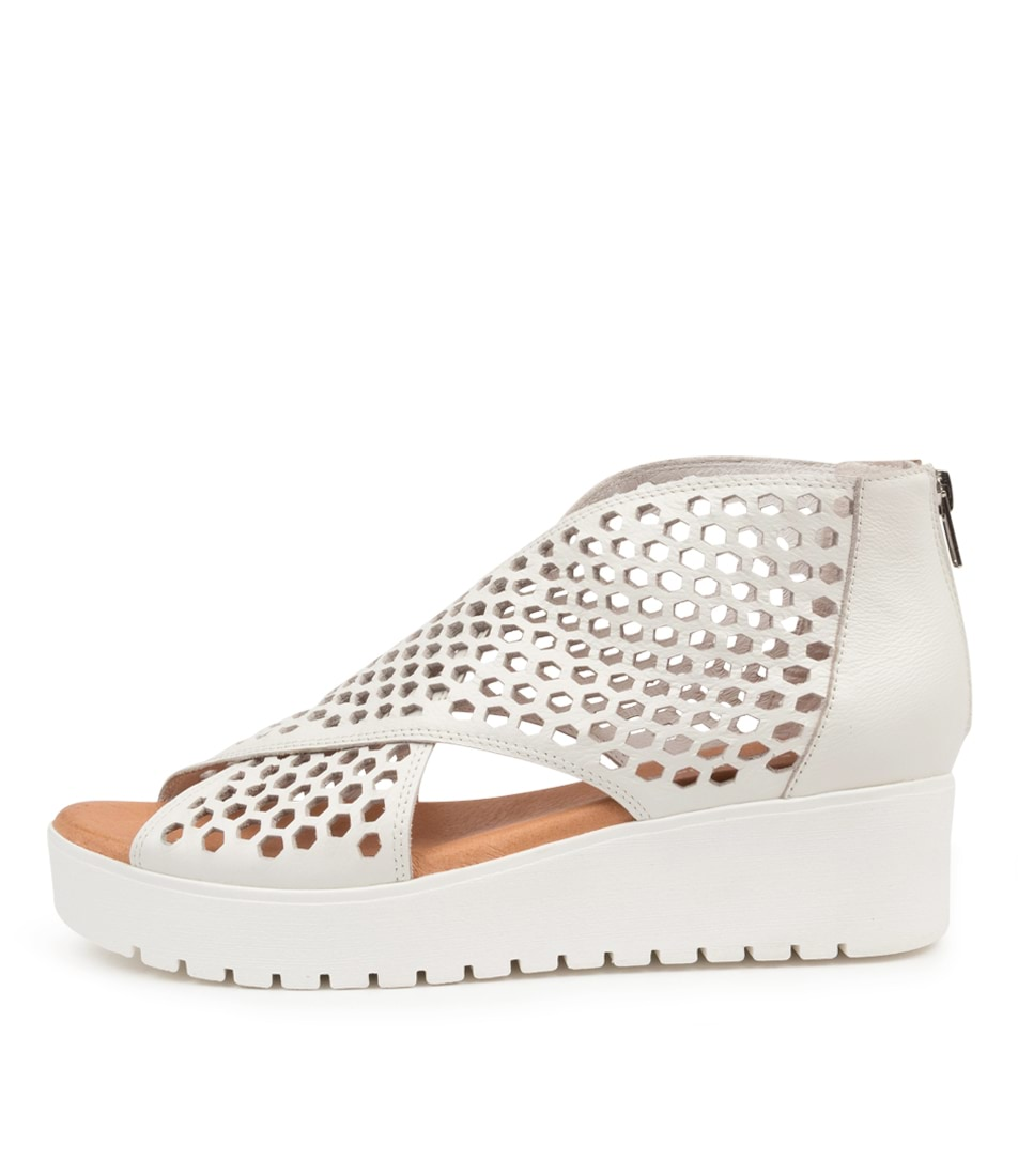 Buy Django & Juliette Orma Dj White White Sole Flat Sandals online with free shipping