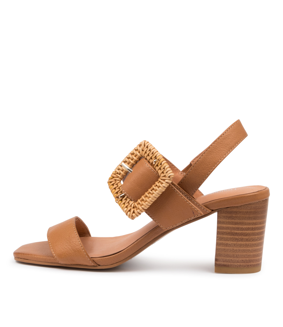 Buy Django & Juliette Peace Dj Dk Tan Heeled Sandals online with free shipping