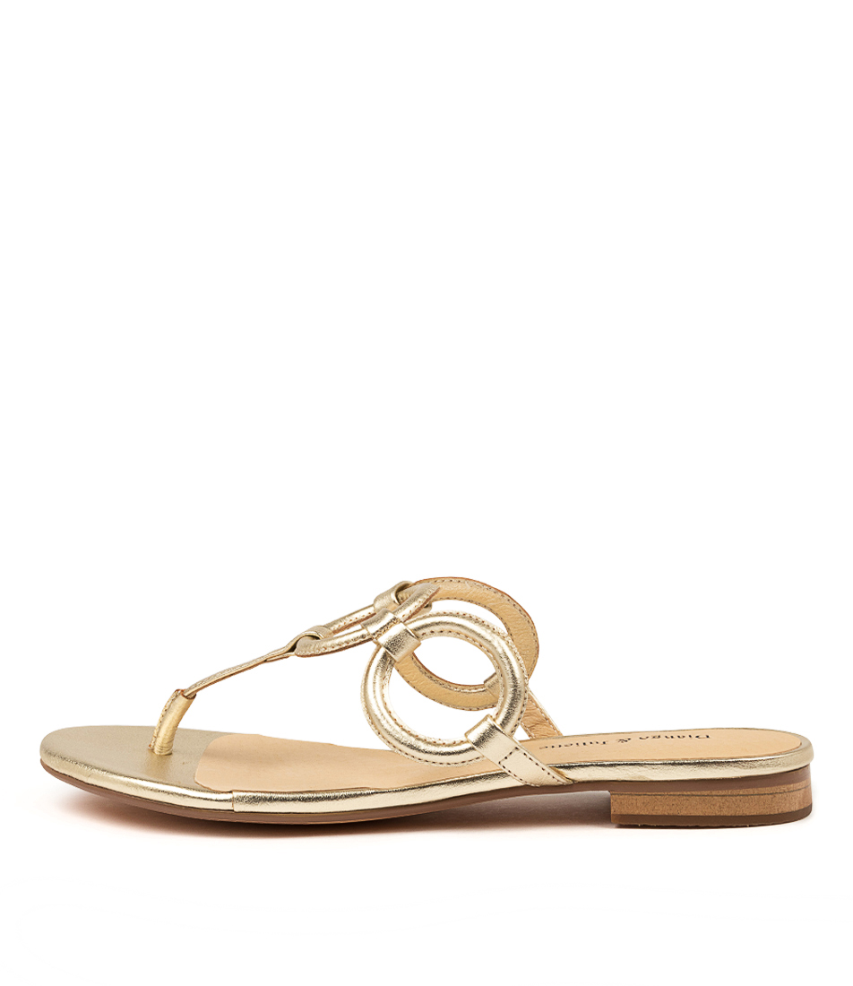 Buy Django & Juliette Pearly Dj Pale Gold Flat Sandals online with free shipping