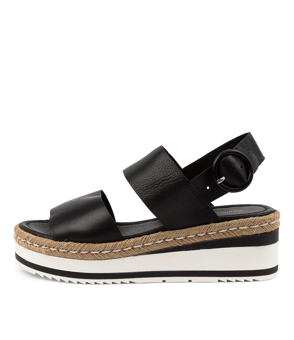 Buy Django & Juliette Petar Dj Black Flat Sandals online with free shipping
