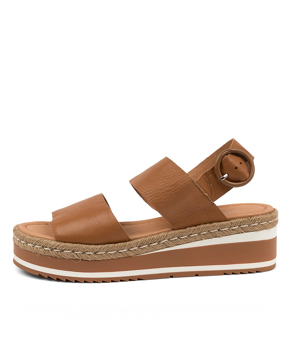 Buy Django & Juliette Petar Dj Dk Tan Flat Sandals online with free shipping