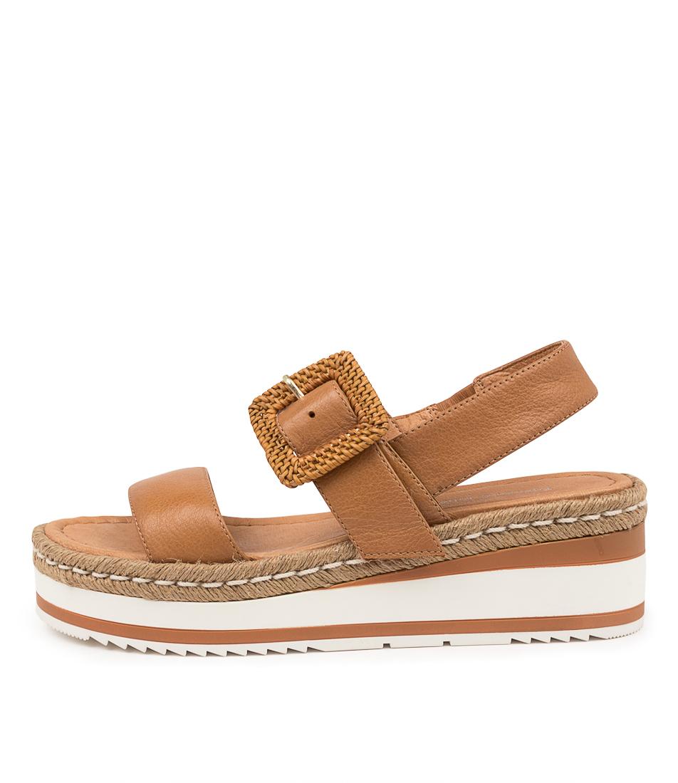 Buy Django & Juliette Prisha Dj Dk Tan Flat Sandals online with free shipping