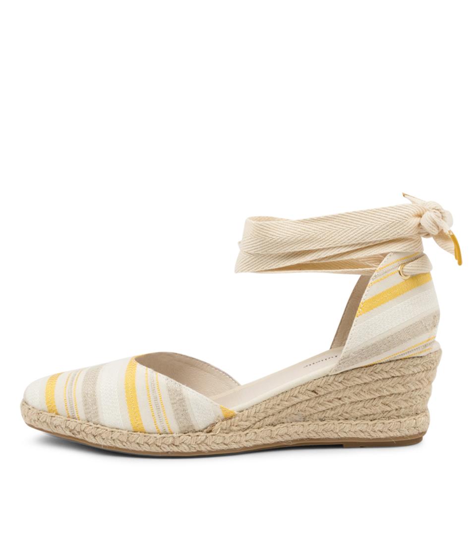Buy Django & Juliette Radu Dj Yellow & Natural Natural High Heels online with free shipping
