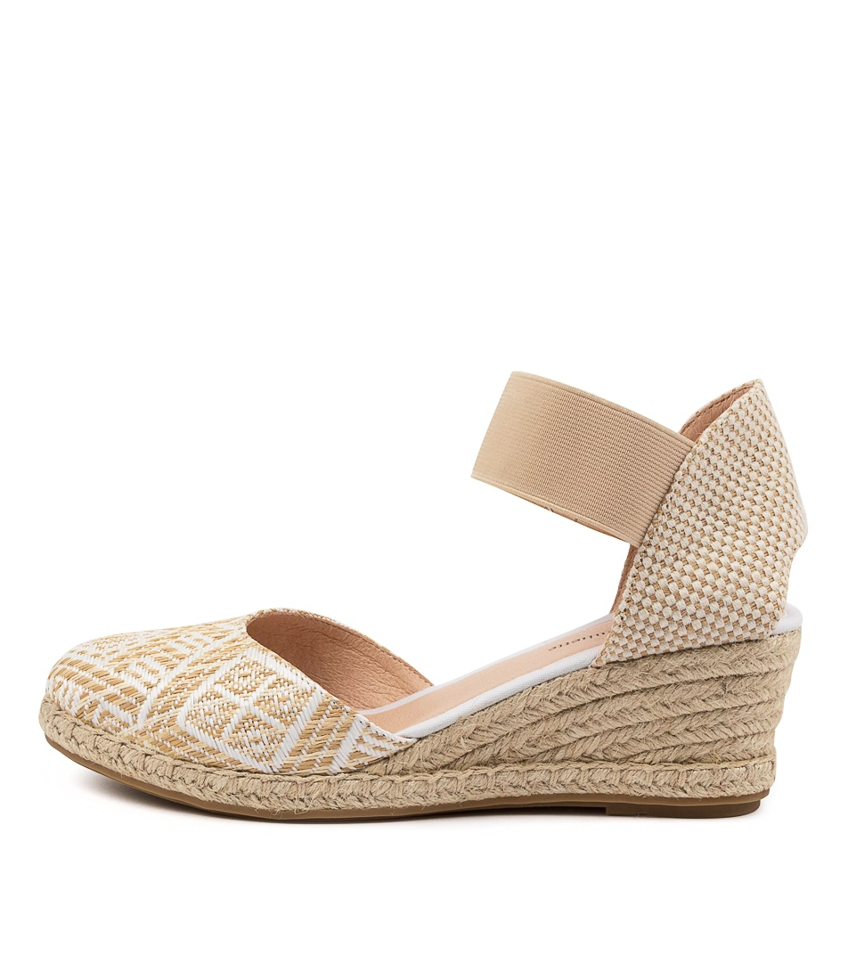 Buy Django & Juliette Rayson Dj Natural & White High Heels online with free shipping
