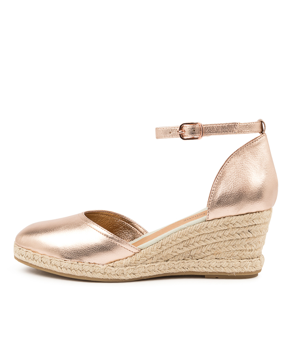 Buy Django & Juliette Rylen Dj Rose Gold Natural Rope High Heels online with free shipping