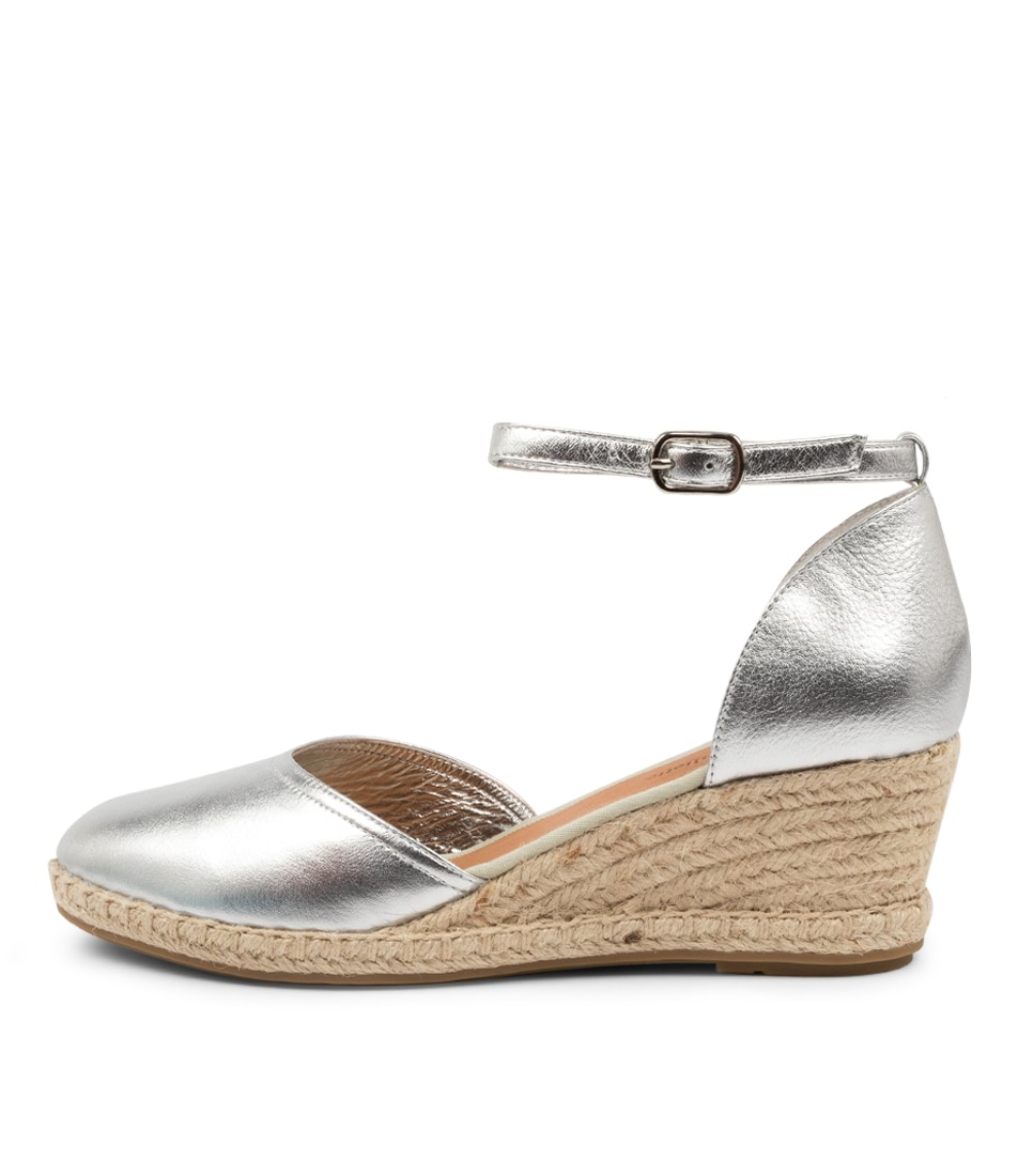 Buy Django & Juliette Rylen Dj Silver Natural High Heels online with free shipping