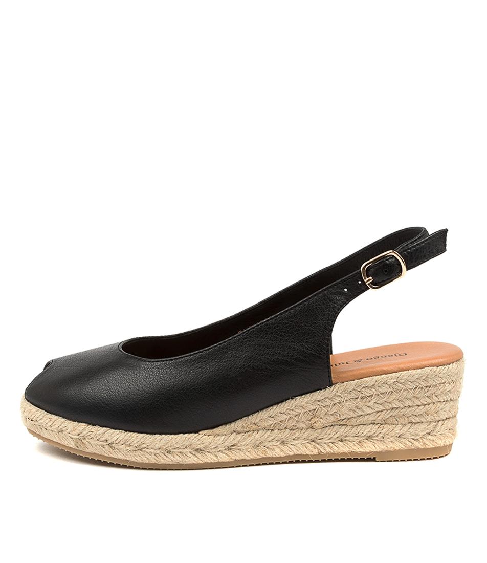 Buy Django & Juliette Saniarly Dj Black Natural R Heeled Sandals online with free shipping