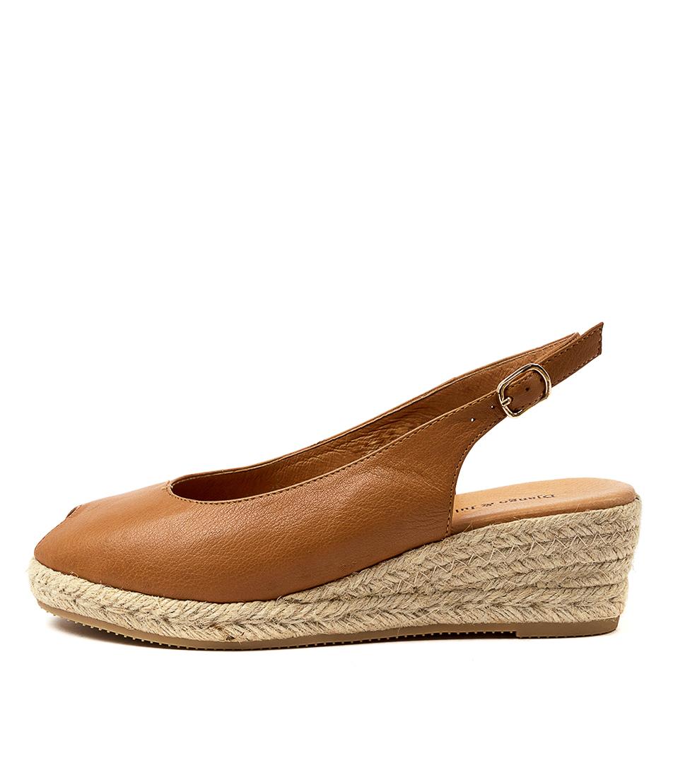 Buy Django & Juliette Saniarly Dj Dk Tan Natural Rope Heeled Sandals online with free shipping