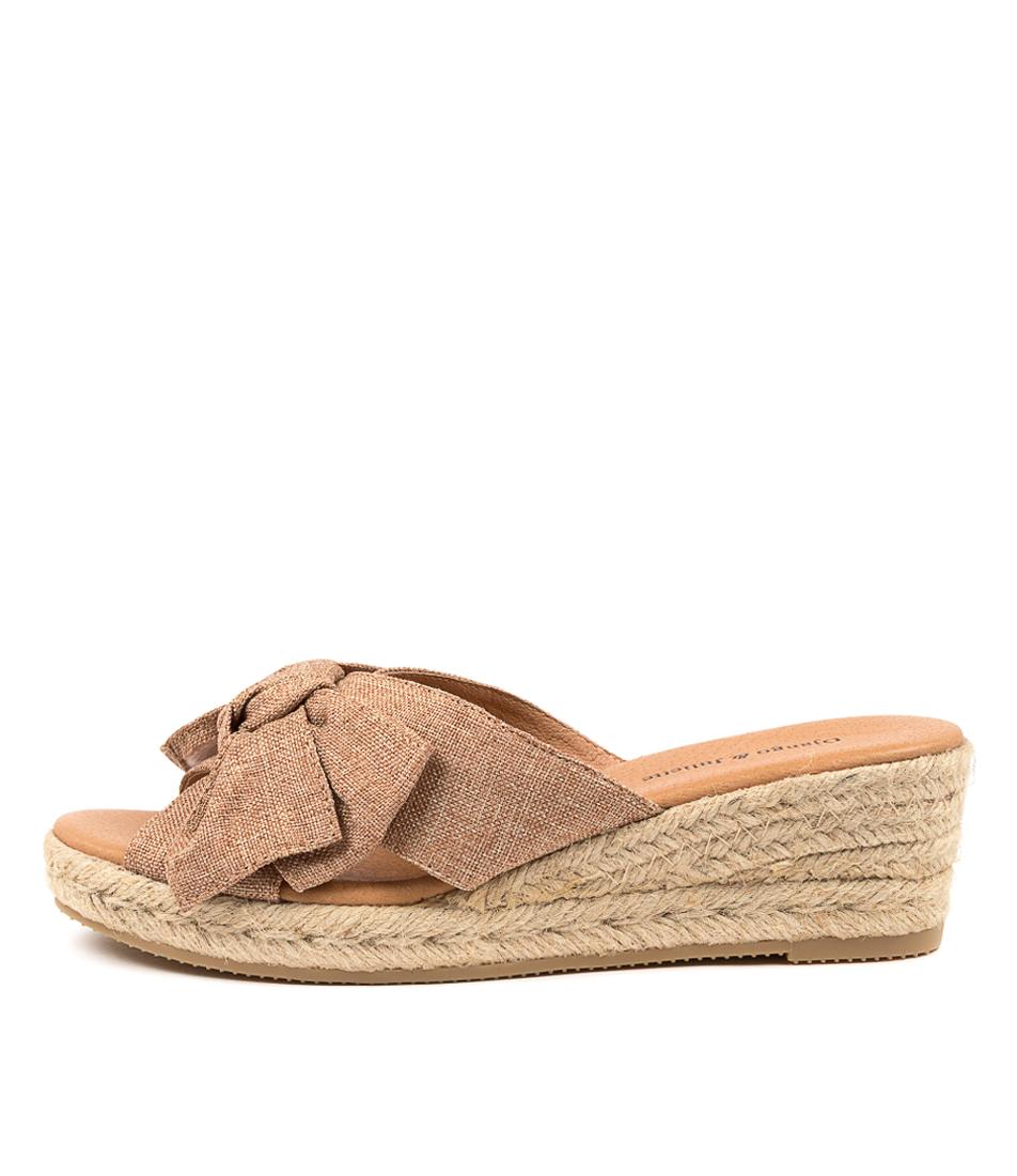 Buy Django & Juliette Serena Dj Coffee Heeled Sandals online with free shipping