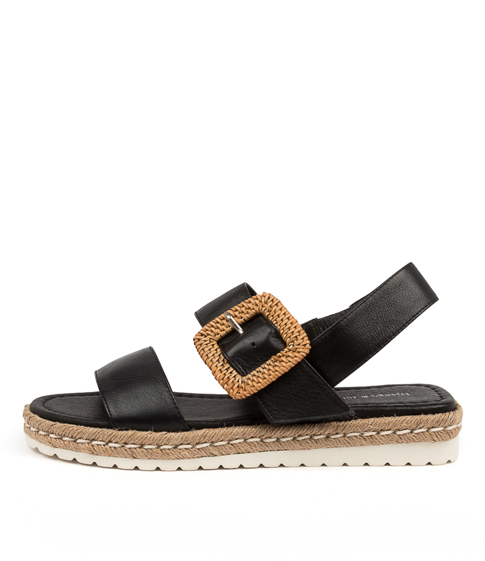 Buy Django & Juliette Silas Dj Black Flat Sandals online with free shipping