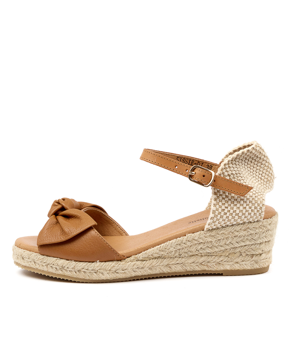Buy Django & Juliette Sissie Dj Dk Tan Lt Tan Heeled Sandals online with free shipping