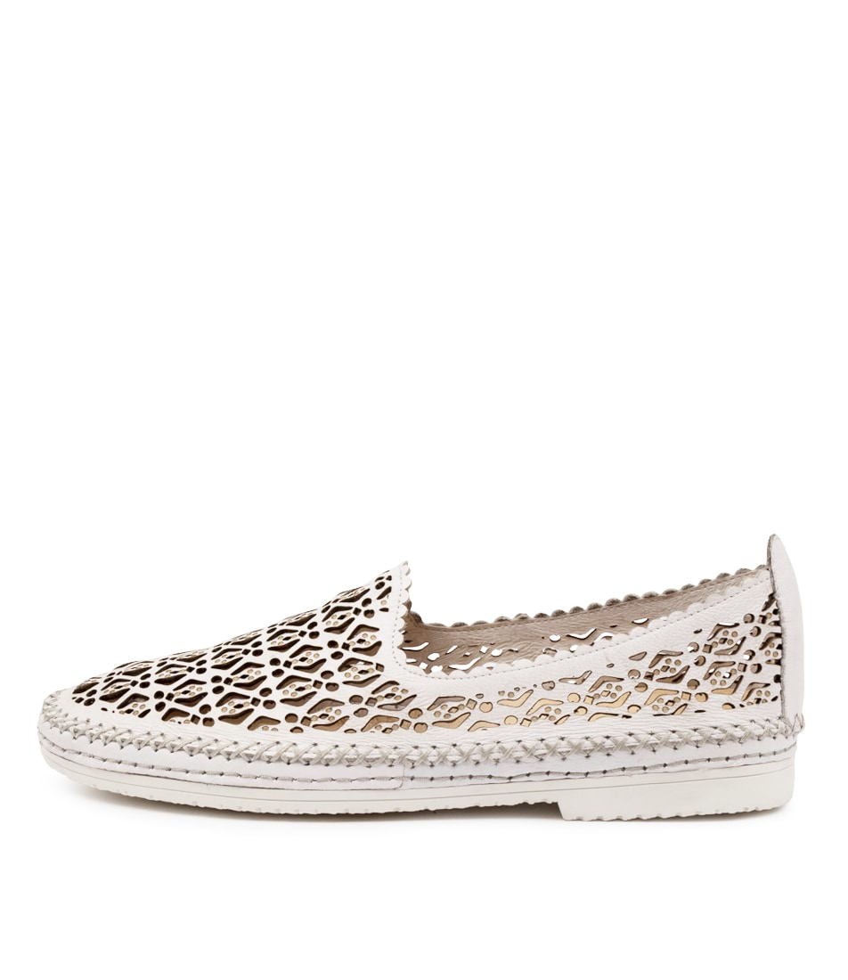 Buy Django & Juliette Vidal Dj White White Sole Flats online with free shipping