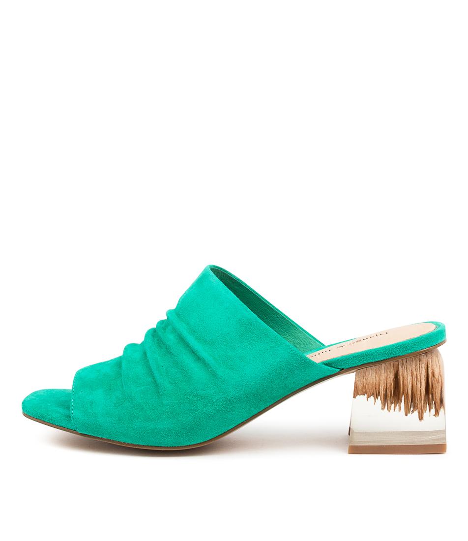 Buy Django & Juliette Weezie Dj Emerald Heeled Sandals online with free shipping