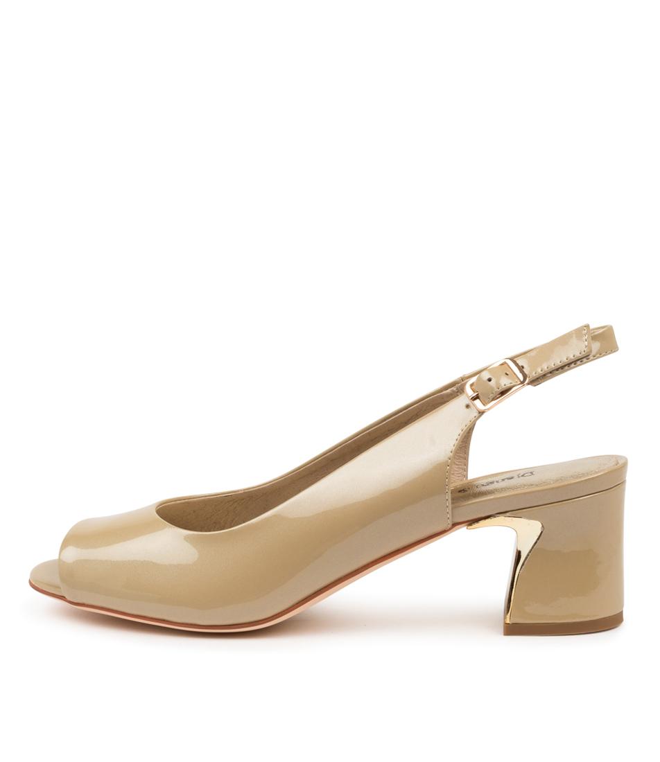 Buy Django & Juliette Jianas Dj Taupe Pearl Heeled Sandals online with free shipping