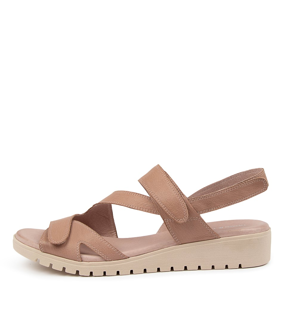 Buy Django & Juliette Melany Djl Cafe Nude Sole Flat Sandals online with free shipping