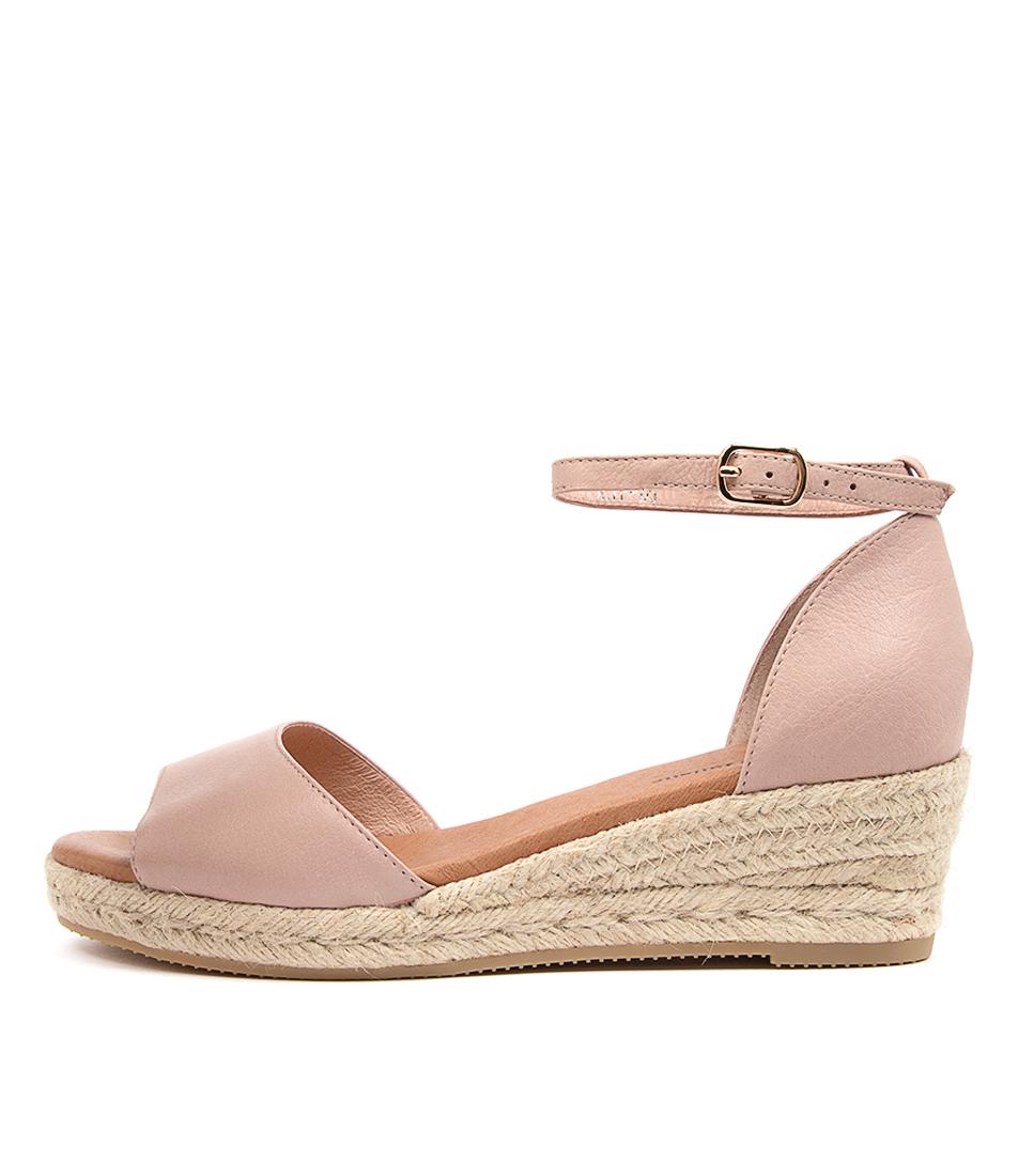 Buy Django & Juliette Skip Djl Rose Natural Rope Heeled Sandals online with free shipping