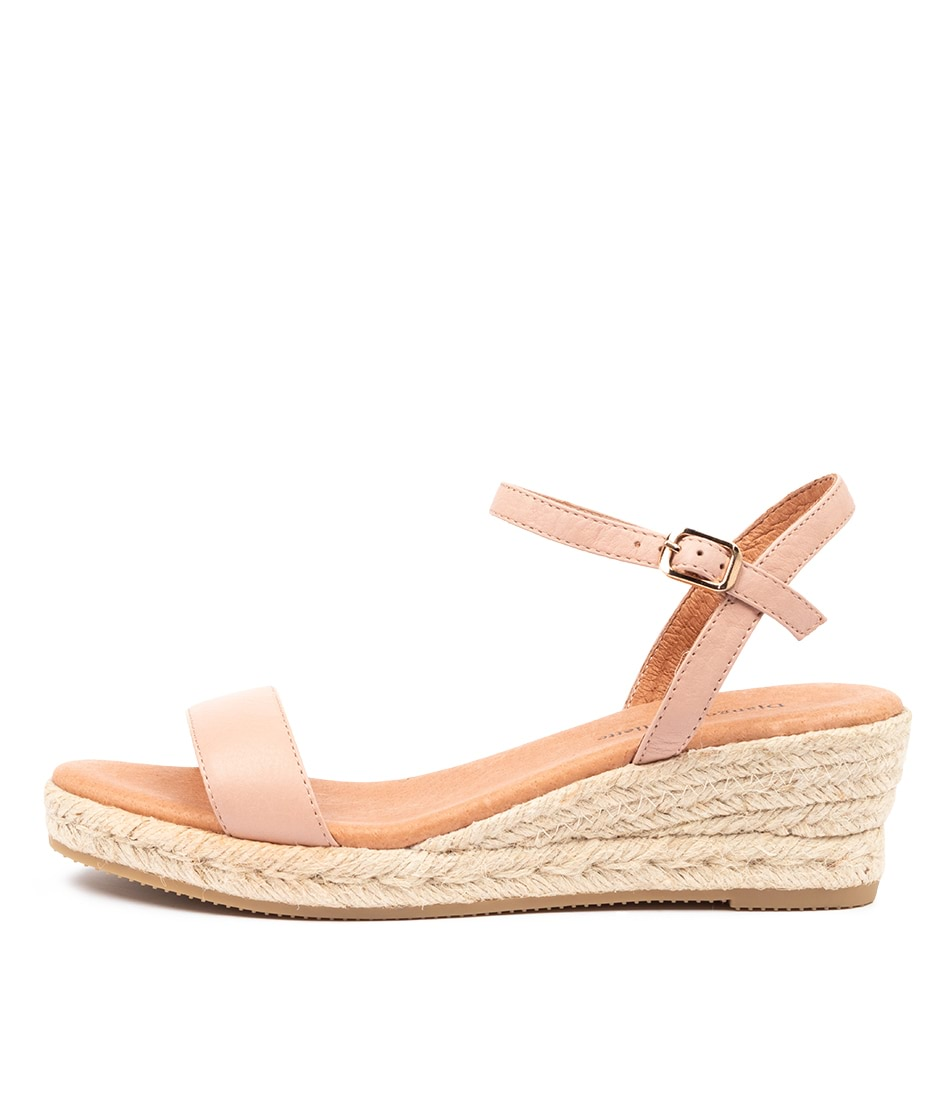 Buy Django & Juliette Shielay Djl Rose Natural Rope Heeled Sandals online with free shipping