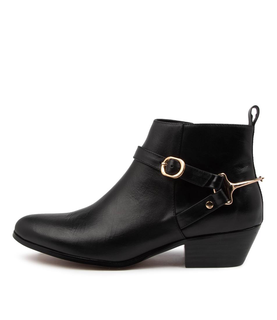Buy Django & Juliette Calie Dj Black Black Heel Ankle Boots online with free shipping