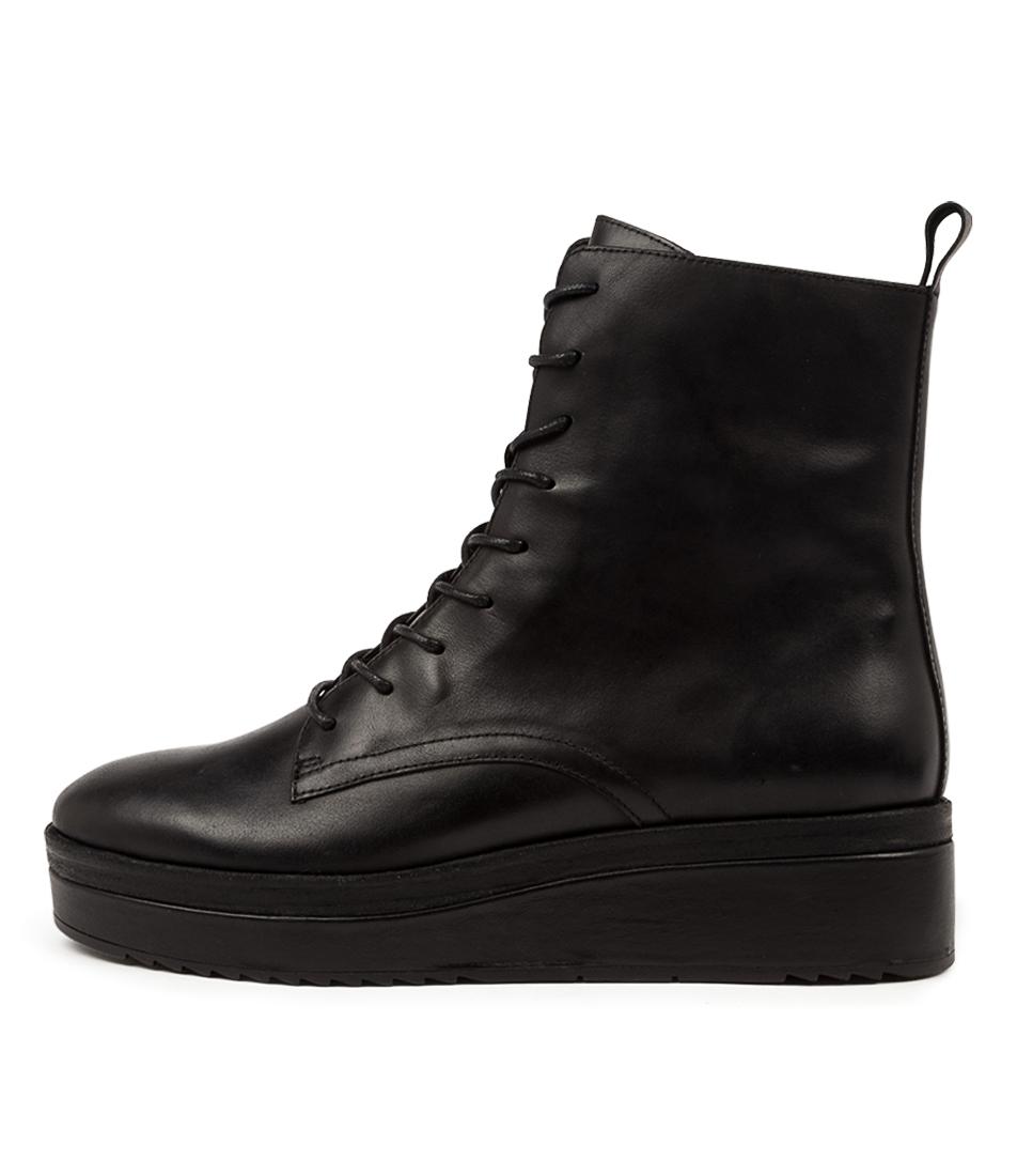Buy Django & Juliette Caspar Dj Black Black Veneer Ankle Boots online with free shipping